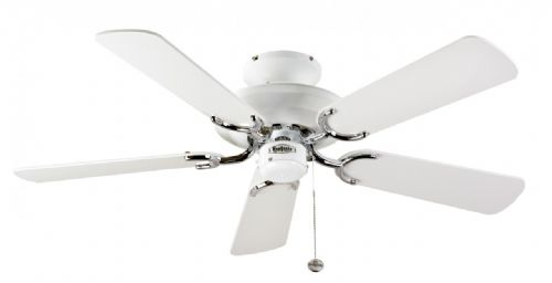 "Fantasia Mayfair 42"" White/Stainless Steel Ceiling Fan 110606"